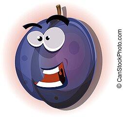 Comic Funny Plum Character
