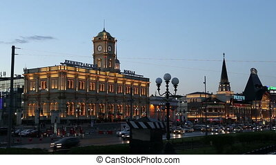 Leningradsky railway station - Historic building of the...