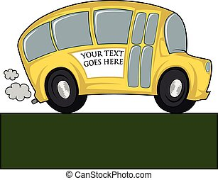 Cool bus - Funny illustration of a school bus - you can...