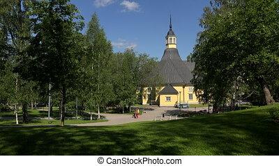 The Church in Lappeenranta Finland Shot in 4K ultra-high...