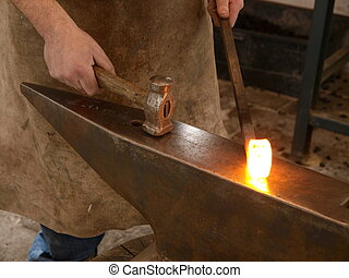 Forging  - forging with hammer and anvil