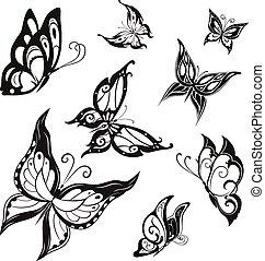 Vector butterflies - Vector set of butterflies for...