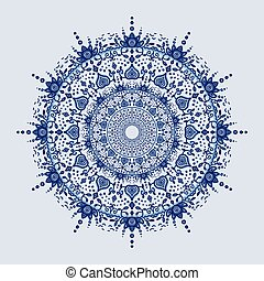 Asian mandala background