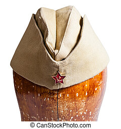 military garrison cap with soviet red star sign - direct...