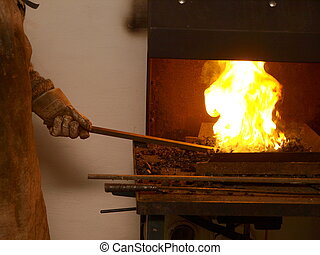 Forging Fire - blacksmith at a forging fire
