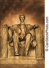Lincoln - Old picture of the lincoln memorial in washington...
