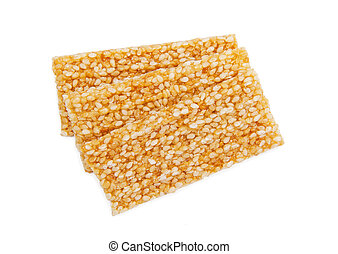 Sesame Seed Cookies isolated on the white background