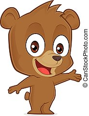 Bear in welcoming gesture - Clipart picture of a bear...