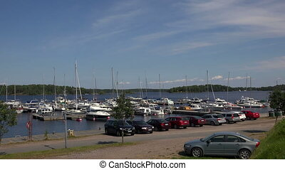 Marina, the harbour in Lappeenranta. Finland.