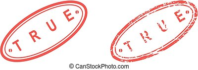 true stamp sticker in vector format very easy to edit
