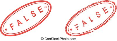 false stamp sticker in vector format very easy to edit