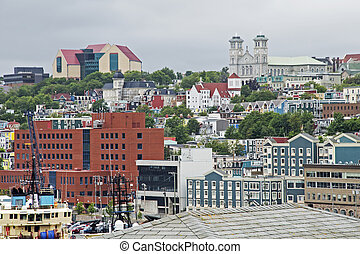 Harbour City of St Johns in Newfoundland - Partial view of...