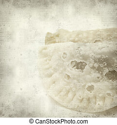 textured old paper background with traditional canarian...