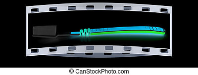 Toothbrush. The film strip