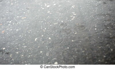 rain - close up of asphalt on rainy day. 30p