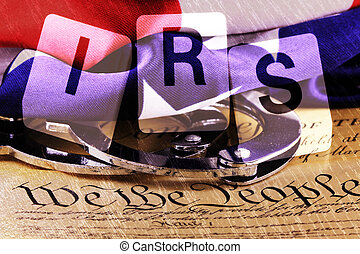 Double exposure US constitution - US constitution with...