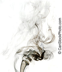 Abstract gray smoke on white background