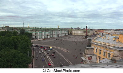 Petersburg. View from the roof. The Palace square.