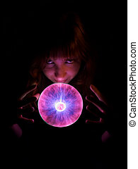 Witch tool - Purple plasma flames drawing from center to...