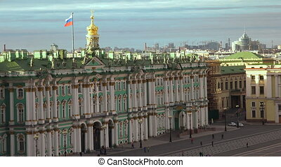 Petersburg. View from the roof. The Hermitage. The Centre Of...
