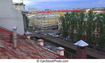Petersburg View from the roof The Centre Of The City 4K -...
