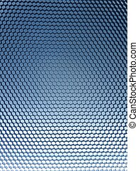 Hexagon Background - A close up shot of a metal hexagon...