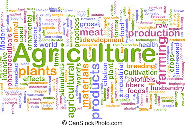 Agriculture word cloud - Word cloud concept illustration of...