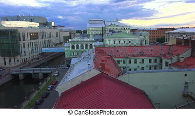 Petersburg. View from the roof. Mariinsky theatre. -...