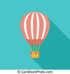 Air balloon Single icon Vector illustration