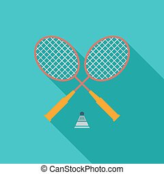 Badminton Single icon Vector illustration