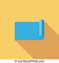Blueprint icon Flat vector related icon with long shadow for...