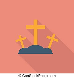 Calvary single icon - Calvary icon Flat vector related icon...