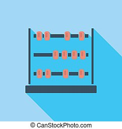 Abacus icon Flat vector related icon with long shadow for...
