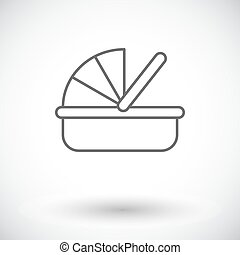 Cradle icon. Thin line flat vector related icon for web and...