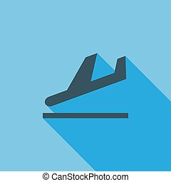 Departure icon Flat vector related icon with long shadow for...
