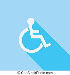 Disabled single icon - Disabled icon Flat vector related...