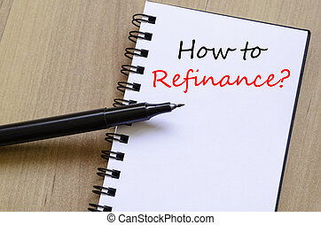 How to refinance text concept - How to refinance business...