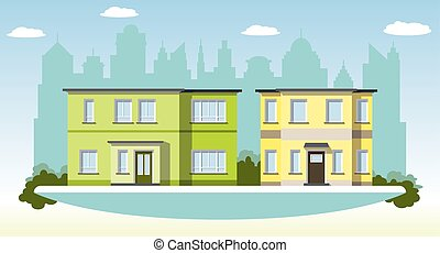 Two modern Townhouses in the suburbs
