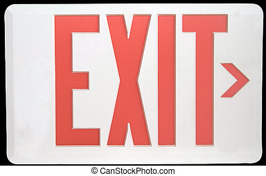 Exit Sign Isolated on Black