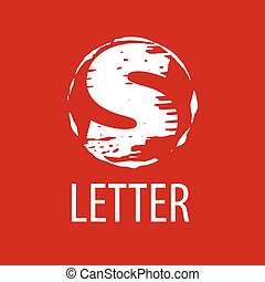 vector logo letter S in the form of a stamp