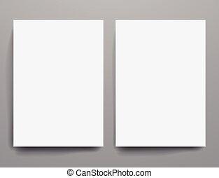 Design template empty brochures shadow in vector. - Design...