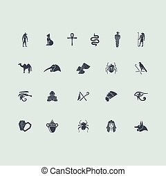 Set of Egypt icons - Egypt vector set of modern simple icons