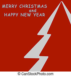 Christmas Greeting Card , Happy New Year Card , Christmas...