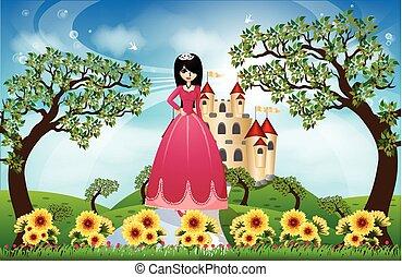 Beautiful Princess and Castle