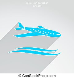 Vector travel airplane icon