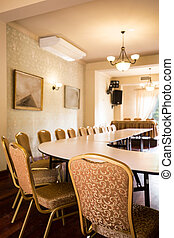 Conference room in luxury hotel