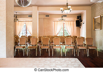 Elegant conference hall - Rows of chairs in elegant...