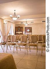 Elegant boardroom in the hotel