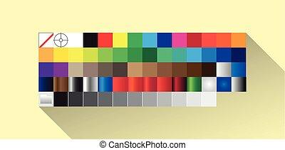Color Palette - Color Palette panel in flat design, software...