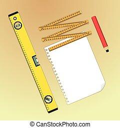 Meter - Blueprint creation tools, paper, water-level, meter...